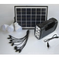 Système portatif d'éclairage solaire à la maison de camping avec le panneau solaire 5w