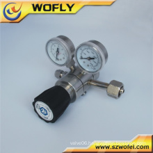Most popular dual stage argon gas pressure regulator with compression fittings