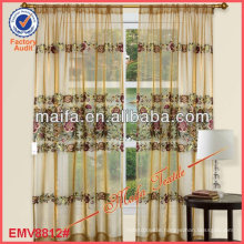 "New Floral Design Lace Sheer Curtains 60""*90"" In Wheat"