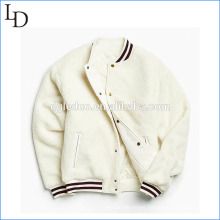 Lamb wool wholesale oem plain varsity warm hoody jacket Lamb wool wholesale oem plain varsity warm hoody jacket  oem jacket