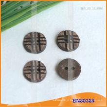 Botões naturais de coco para vestuário BN8038