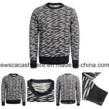 Herren Pure Cashmere Pullover A16m-002CT mit Tiger Streifen