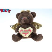 Schokoladen-Engels-Teddybär-Spielzeug-heißer Verkauf für Übersee-Markt Bos 1115