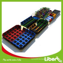 Neue gehobelte Kauf-Indoor-Trampolin-Website mit Spielplätzen für Park, professionelle Indoor-Trampolin-Website