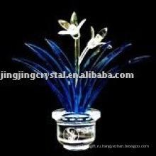 Кристалл Орхидея цветок ремесло для украшения стола