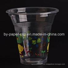 Copa de plástico de jugos de jugo
