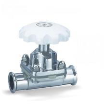 Válvula sanitaria de diafragma manual de acero inoxidable 316L