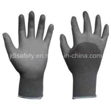 Nylon Work Glove with Knuckle Dipped PU (PN8009)