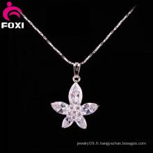 Beauté fleur Design or blanc pendentifs bijoux