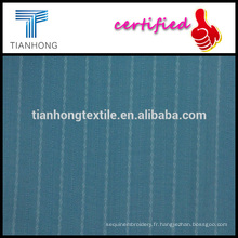 Popeline bleu marine et blanc ratière tisser un tissu coton en tissu léger pour la robe
