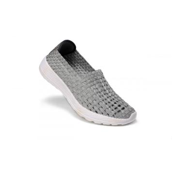 Exquisite Round Head Design Woven Hollow Work Shoes