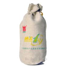 Jute Weinflasche Tasche (hbjw-18)