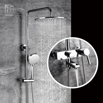 Wall Mount Bathroom Hot And Cold Shower Mixer