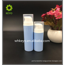 30ml 50ml best selling make up packing blue colored empty cosmetic airless pump lotion bottle