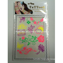 Tattoo Sticker with Fluorescence and Glow in The Dark