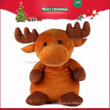 Juguetes de felpa rellenos baratos 2016 de encargo del animal de los alces para la Navidad