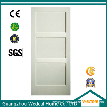 Swing Hollow Core Wood Veneer Interior Three Panel Door for Project