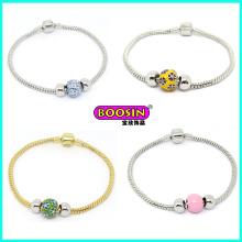 Bracelet de perles en alliage de gros de haute qualité pour les femmes