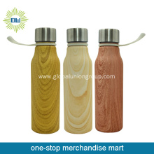 Bullet Shaped Wood Grain Water Bottle