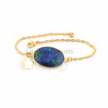 Mohave Azurite Gold Plated Silver Wholesale Jewelry