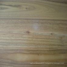 Plancher en bois massif laqué noir