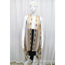 Lady Fashion Printed Polyester Chiffon Seidenhemd (YKY2209)