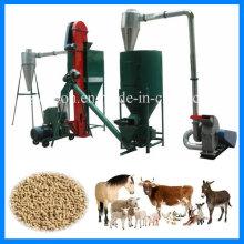 500kg / H Línea de producción de pellets de alimentación animal