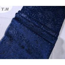 3D Embossed Floral Polyester Velvet Upholstery Fabric