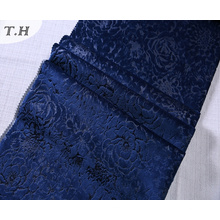 Tissu d'ameublement de velours de polyester floral 3D de relief