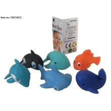 Jouets animaux en vinyle de pulvérisation d'eau avec Bb pour Kis