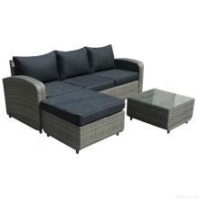Conjunto de sofá jardim de cadeira ao ar livre do Rattan vime mobília do pátio