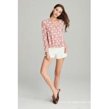 Bluse aus gewebtem Polyester-Chiffon mit Print für Damen