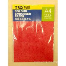 A4 160GSM Placa de couro de papel em relevo colorido para capa de encadernação