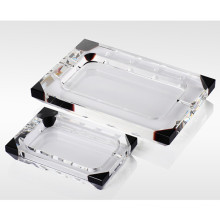 Rectange Crystal Glass Cigar Ashtray for Smoking