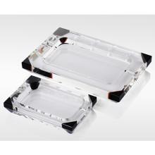 Rectange Crystal Glass Cinzeiro de Charuto para Fumar