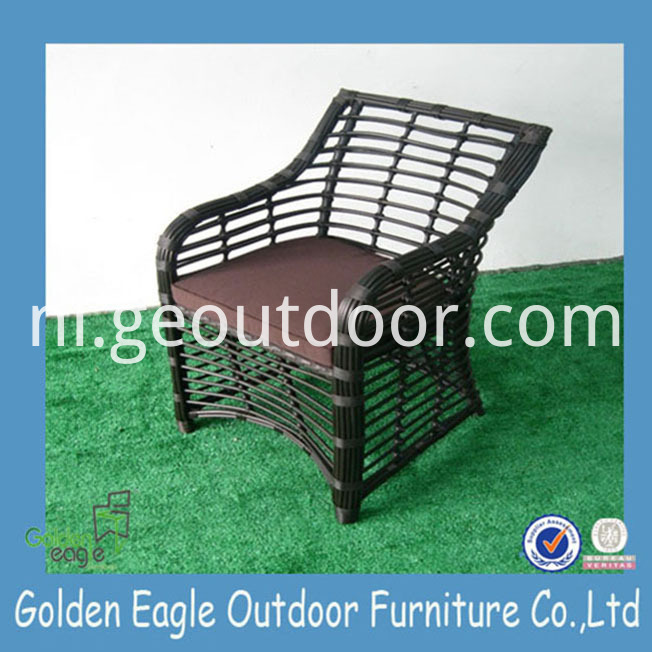 PE Wicker Aluminium Patio Chair set