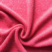 Red velvet shinny lurex knitting night dress fabric