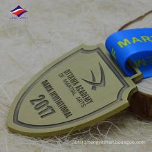 Fashion nice price recessed metal medallion antique bronze medals
