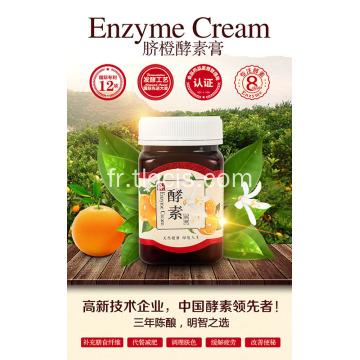 Crème d'orange enzyme