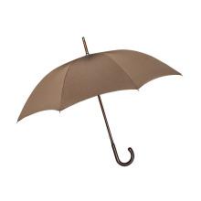 Manueller offener brauner hochwertiger gerader Regenschirm (BD-51)