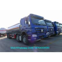 Caminhão de tanque diesel de reabastecimento de Howo Sinotruk 8x4