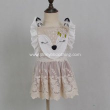 Fawn Embroidery Sleeveless Dress