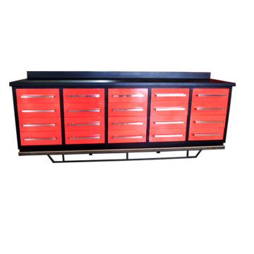 Banco de trabajo de los 10 cajones del metal 10ft como gabinete de almacenamiento de la herramienta del taller