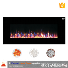"220V decor flame 50"" wall mount electric fireplace heater"