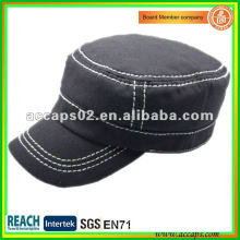 2012 plain cotton military style cap MC-1288