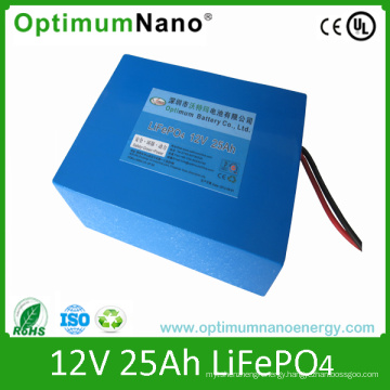 12V Lithium Ion 25ah Rechargeable Battery