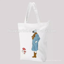 Pure saco de pano de algodão drawstring bolso bebê roupas de armazenamento saco / 2013 saco de cordão de qualidade superior na impressão