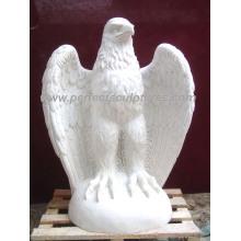 Tallando piedra de mármol águila estatua animal para la escultura de jardín (SY-B102)