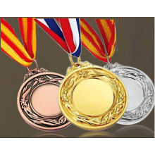 3D Metal Medal with Logo Embossed in Gold Color