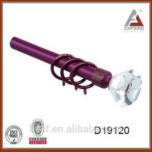 D19120 acabados de cristal de la cortina de la barra de la cortina, decoración finial de la barra de la cortina de la decoración, accesorios de la barra de la cortina